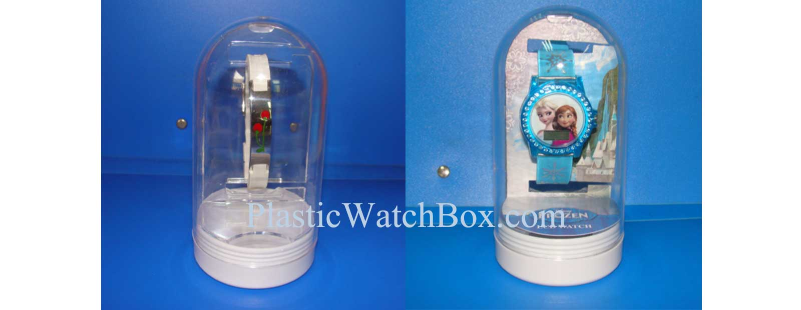 Clear Plastic Watch Box 35