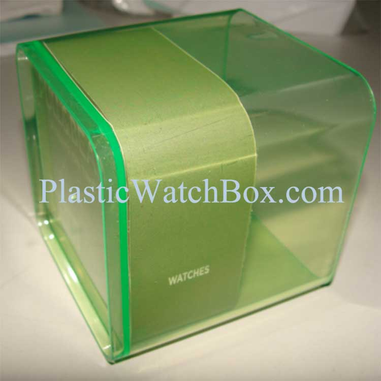 Transparent Plastic Bracelet Storage Box with EVA and Paper Printing