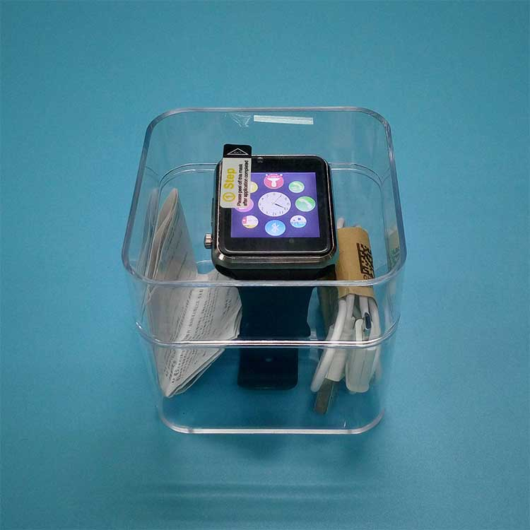 Smart Watch Display Box Factory Custom Made Fashion Clear Plastic Boxes
