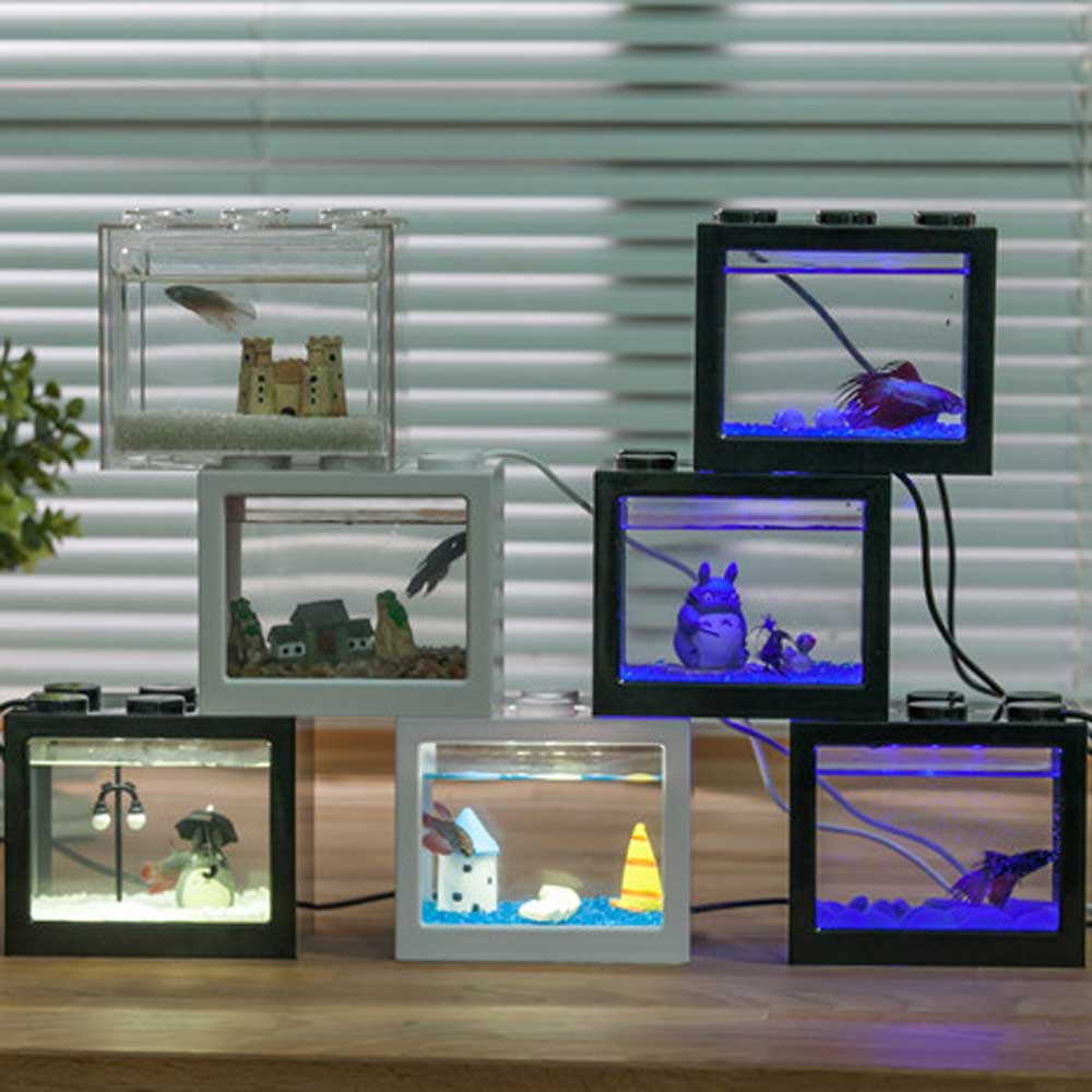Aquarium tank fish with LED lignting for christmas gift wholesale from china supplier